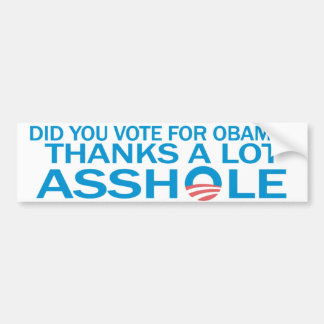 Anti adhésif pour pare-chocs d'Obama Autocollant Pour Voiture