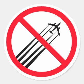 Anti autocollant de Chemtrails