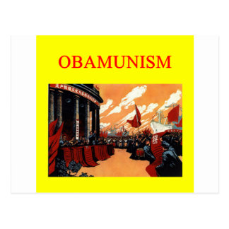 Anti Barack Obama conception d'OBAMUNISM Carte Postale