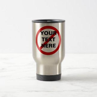 Anti- cercle de modèle avec la barre oblique mug de voyage