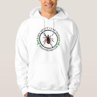 Anti chemise de conscience de la maladie de Lyme Veste À Capuche