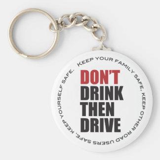 Anti conduite en état d'ivresse porte-clé rond