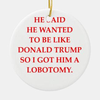 anti Donald Trump Ornement Rond En Céramique