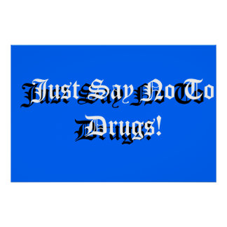 Anti-drogue de signe d'école affiche