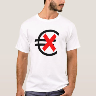 Anti euro devise t-shirt