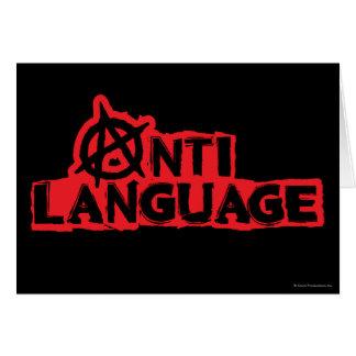Anti-Langue Carte De Vœux