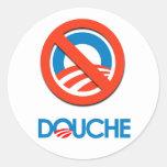 Anti-Obama Bumpersticker - douche Adhésifs Ronds