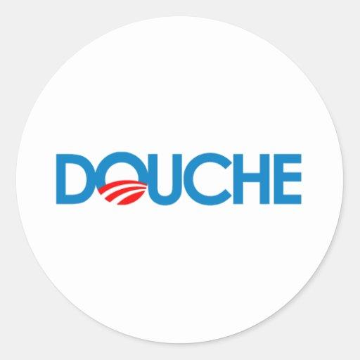 Anti-Obama Bumpersticker - douche Sticker Rond