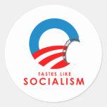 Anti-Obama Bumpersticker - les goûts aiment le Autocollant Rond