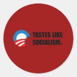 Anti-Obama Bumpersticker - les goûts aiment le Adhésifs Ronds