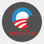 Anti-Obama Bumpersticker - les goûts aiment le Adhésif Rond