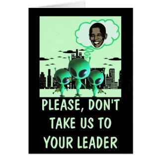 Anti Obama hilare Carte De Vœux