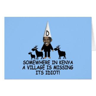 Anti Obama, idiot de village Carte De Vœux