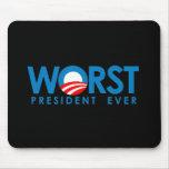 Anti-Obama - le plus mauvais Président Ever Tapis De Souris