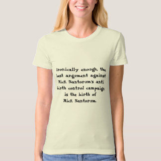 Anti T-shirt de dames de Rick Santorum