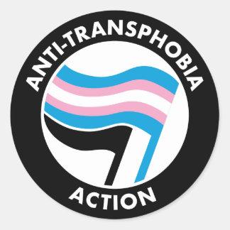 Anti-Transphobia autocollant d'Antifa