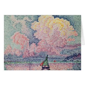 Antibes, Cloud rose, 1916 Carte De Vœux