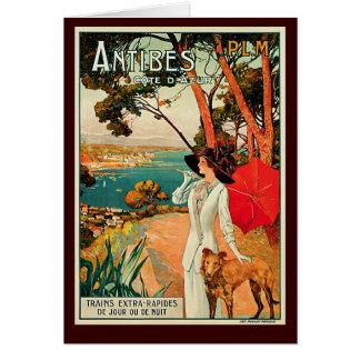 Antibes Cote d'Azur Carte De Vœux