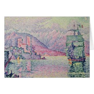 Antibes, Evening, 1914 Carte De Vœux