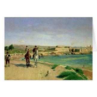 Antibes, le tour de cheval, 1868 carte de vœux