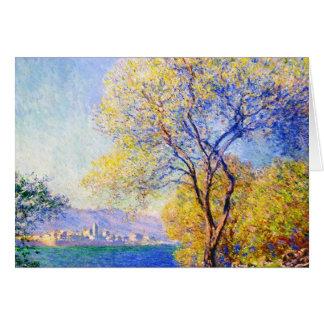 Antibes vu du Salis fait du jardinage Claude Monet Cartes De Vœux
