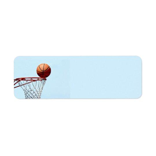 Anticipation de basket-ball étiquette d'adresse retour