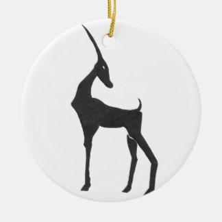 Antilope Ornement Rond En Céramique