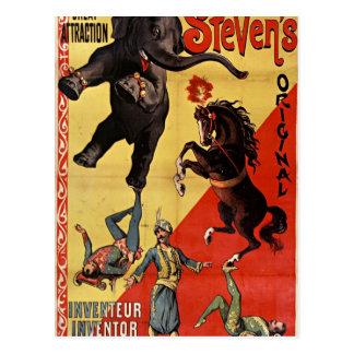 antique circus postcard carte postale