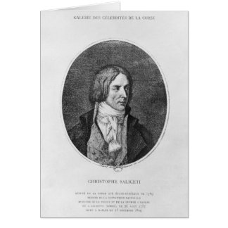 Antoine Christophe Saliceti gravé Cartes