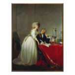 Antoine-Laurent Lavoisier et épouse Affiche