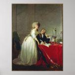 Antoine-Laurent Lavoisier et épouse Poster