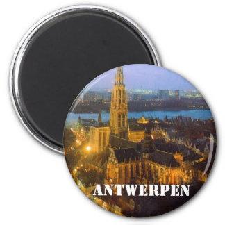 Antwerpen Magnet Rond 8 Cm