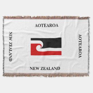 AOTEAROA/jet maori de drapeau de Nouvelle Zélande Couverture