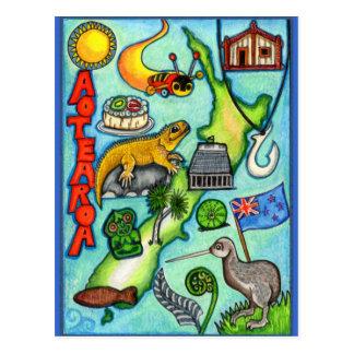 Aotearoa lunatique carte postale