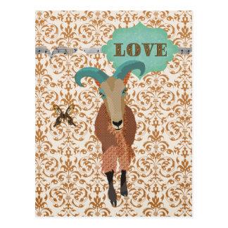 Aoudad de Golddust et amour de carte postale de
