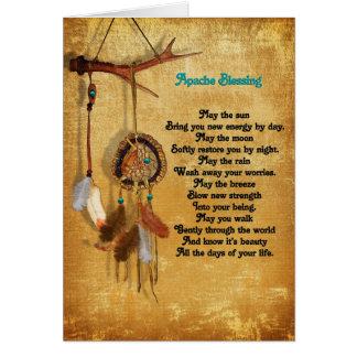 Apache bénissant la carte de voeux de