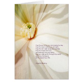 Apache bénissant la carte de voeux de magnolia