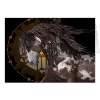 Apache. l'étalon carte de vœux