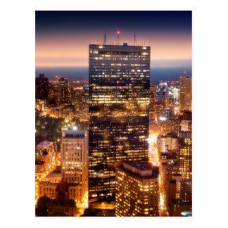 Aperçu de Boston la nuit Carte Postale