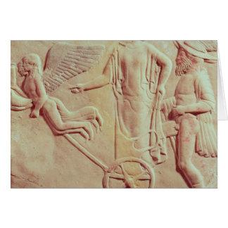 Aphrodite et Hermes montant sur un char Carte De Vœux