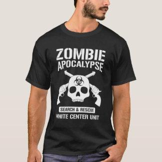 Apocalypse centrale blanche de zombi t-shirt