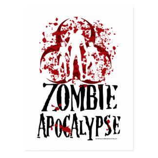 Apocalypse de zombi carte postale