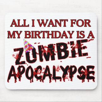 Apocalypse de zombi d'anniversaire tapis de souris
