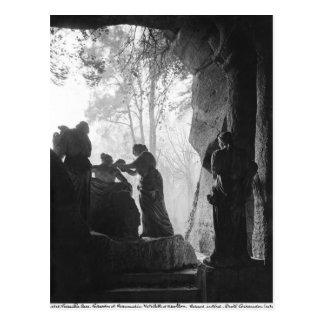 Apollo a tendu par des nymphes dans le bosquet des carte postale