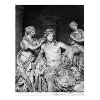 Apollo a tendu par des nymphes dans le verger du carte postale