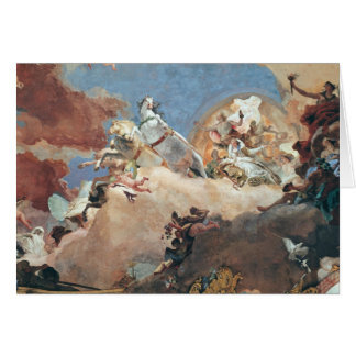 Apollo dans son char de Sun conduisant Béatrice I Cartes