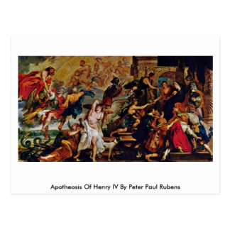 Apothéose d'Iv de Henry par Peter Paul Rubens Carte Postale