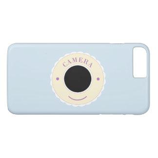 Appareil-photo crème et sourire d'individualité coque iPhone 7 plus
