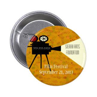 Appareil-photo de festival de film badge rond 5 cm