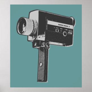 Appareil-photo de film 8 superbe d'art de bruit poster